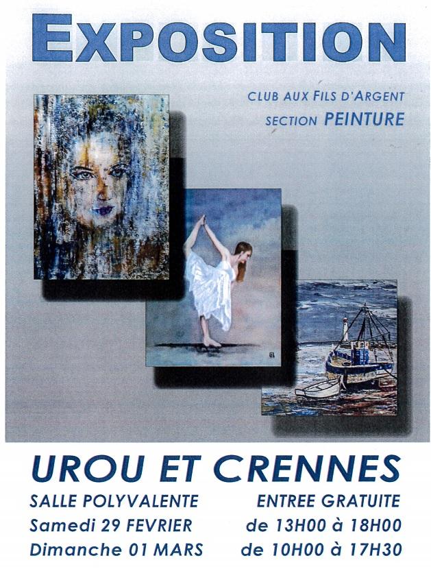 Exposition Peinture Urou et Crennes – Club aux fils d'argent