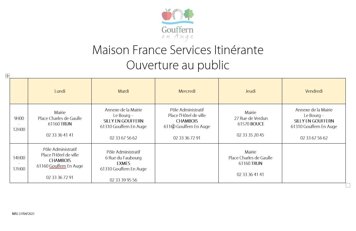 Ouverture Maison France Services Itinérante
